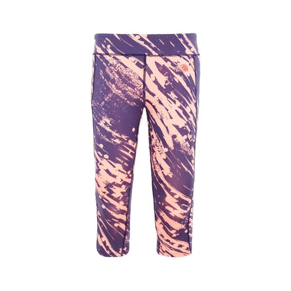 Pulse Capri Womens Neon Peach Paintball Print Front