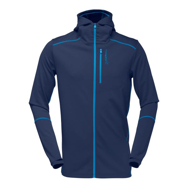 Norrøna Trollveggen Warm/Wool1 Zip Hoodie Men