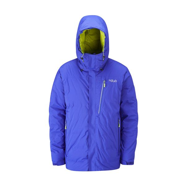 Rab Resolution Jacket 2017 Cobalt insulating waterproof down jacket rock ice alpine snow climbing mountaineering