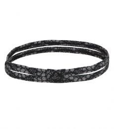 Printed Double Head Band 2015 (Black Baleen)