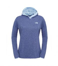 Reactor Hoodie Womens Patriot Blue Heather / Powder Blue Front